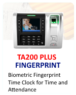 Fingertec Biometric Time Clock TA200