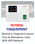 Fingertec Biometric Fingerprint employee time clock
